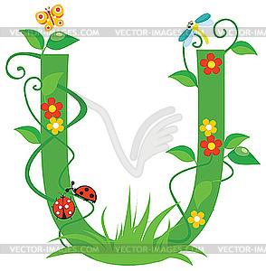 Decorative Flower Letter U Clipart Panda Free Clipart Images