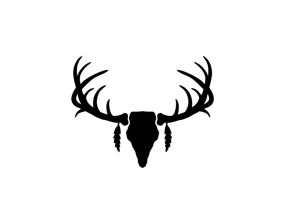 deer%20antlers%20clipart%20black%20and%20white