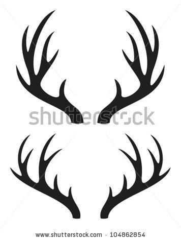 Clip Art Deer Antler Clip Art deer antlers clipart black and white panda free