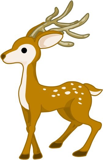 deer clip clipart baby christmas tree categories