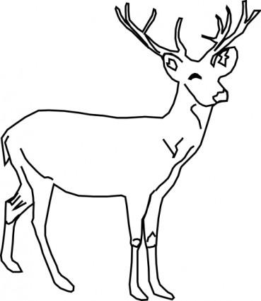 deer clipart black and white clipart panda free clipart images rh clipartpanda com clip art deer butt clip art deer head