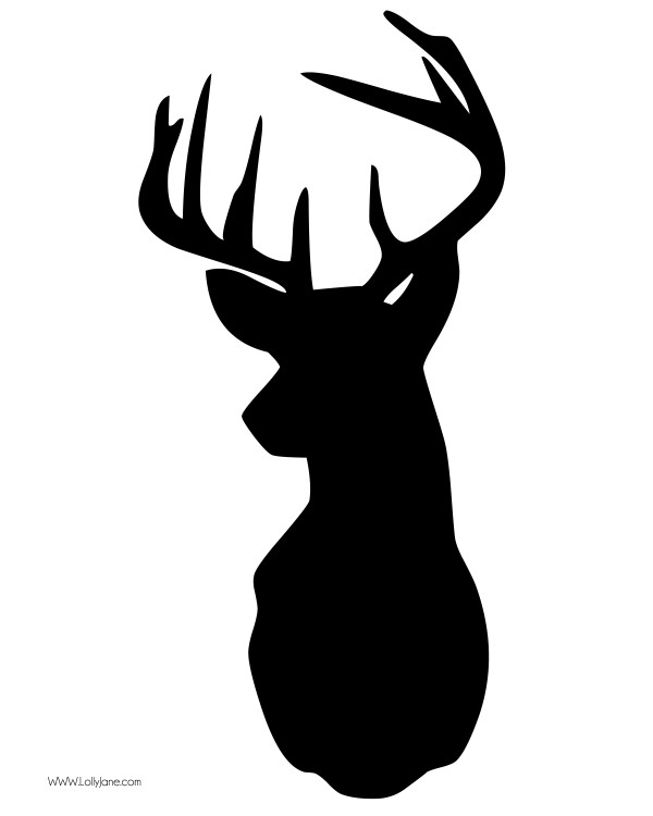 deer clip art silhouette