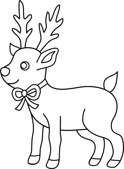 Reindeer Clipart Black And White | Clipart Panda - Free Clipart Images