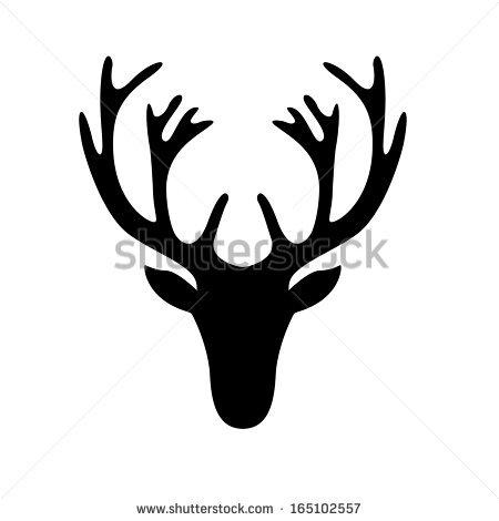 Deer Head Clipart Black And White black and white deer-head-