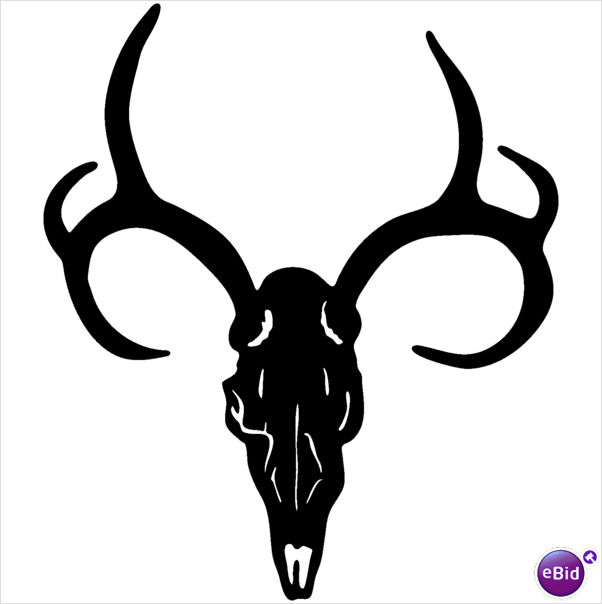 Deer Skull Decal #9 MD Vinyl | Clipart Panda - Free Clipart Images