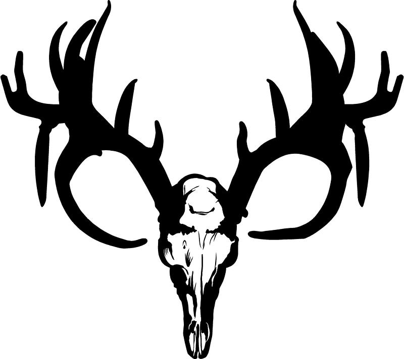 deer skull decal drop tine clipart panda free clipart images. Black Bedroom Furniture Sets. Home Design Ideas