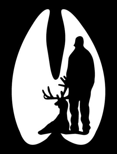 Deer Skull Decal Drop Tine | Clipart Panda - Free Clipart Images