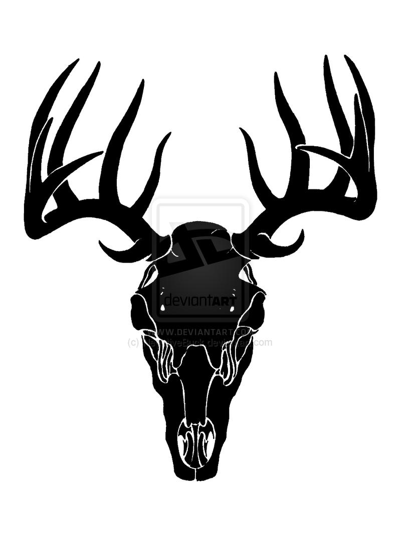 deer skull decal drop tine clipart panda free clipart deer skull vector image Deer Head Vector