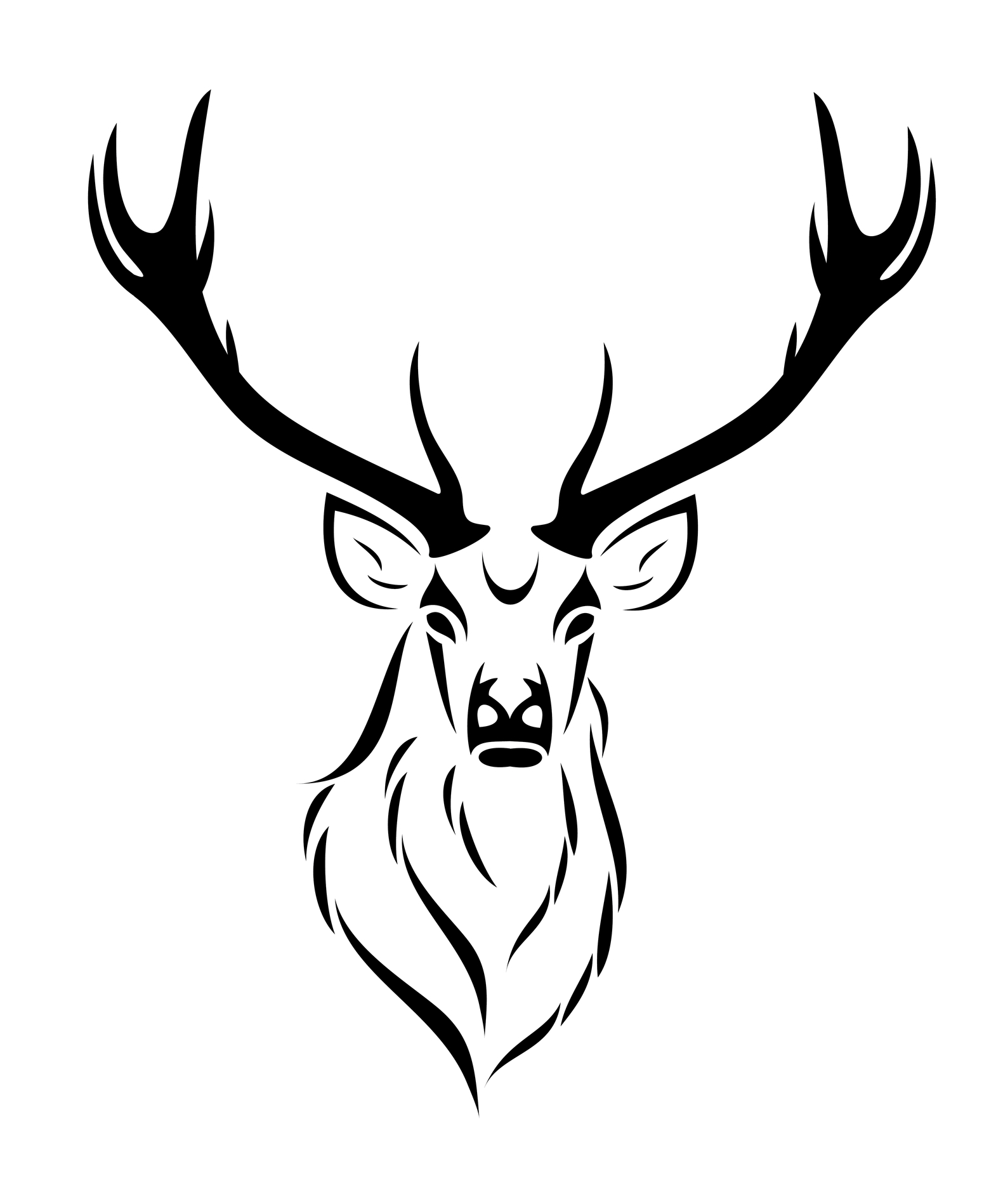 Deer Skull Drawing | Clipart Panda - Free Clipart Images