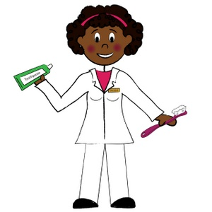 dentist-clip-art-clip_art_cartoon_of_a_ethnic_female_dentist_holding_a ...