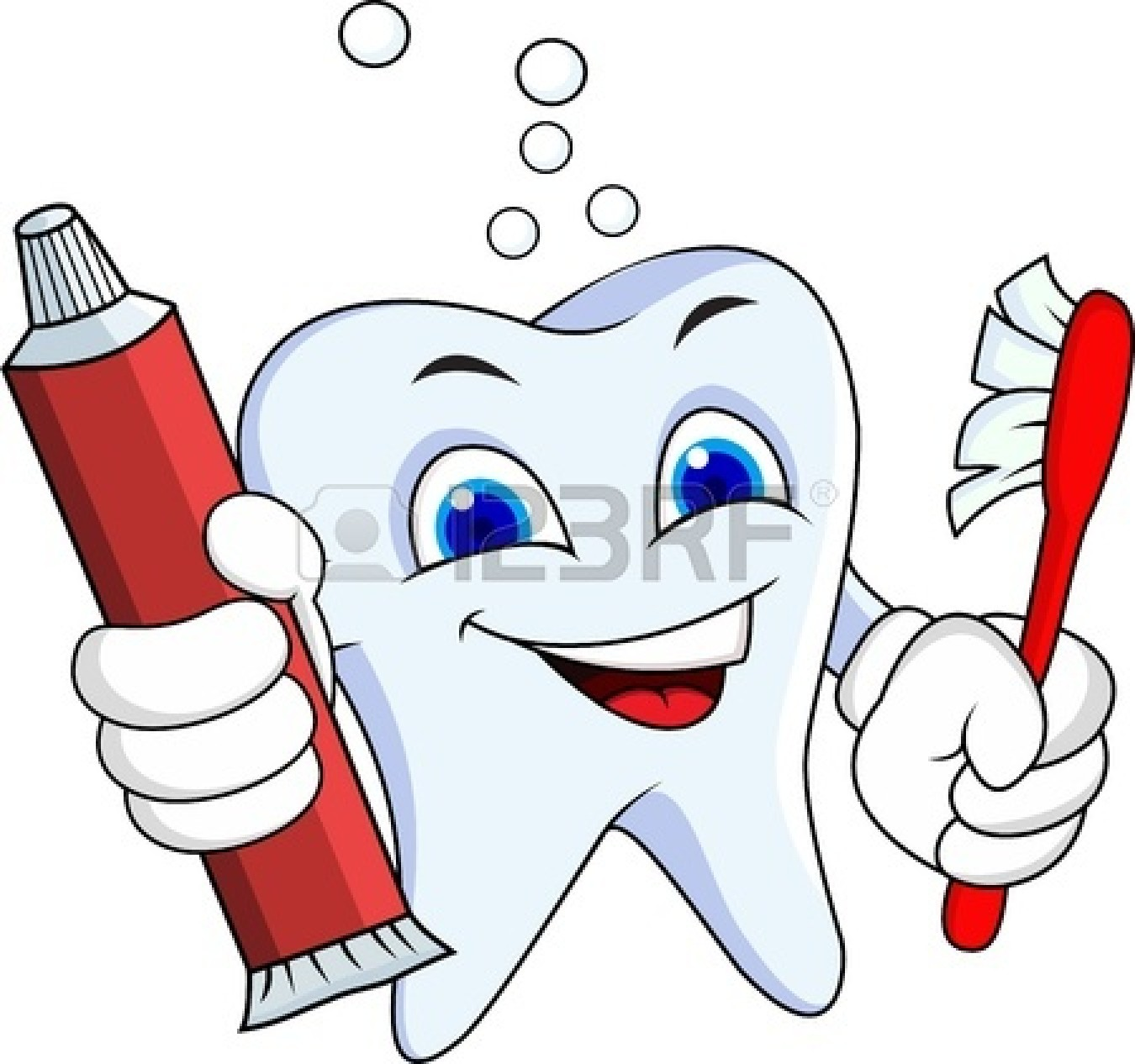 Cute Toothbrush Drawing Dentist Tools Clipart ...