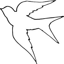 Descending Dove Outline | Clipart Panda - Free Clipart Images