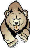 descent 20clipart Grizzly Bear Standing Clip Art