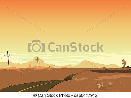 Deserted Landscape Clip Art