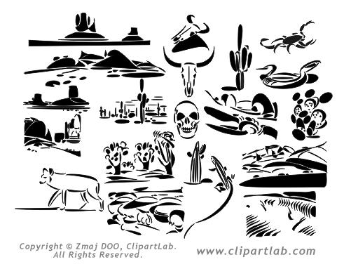 Line Art Clipart : Desert clip art free clipart panda images
