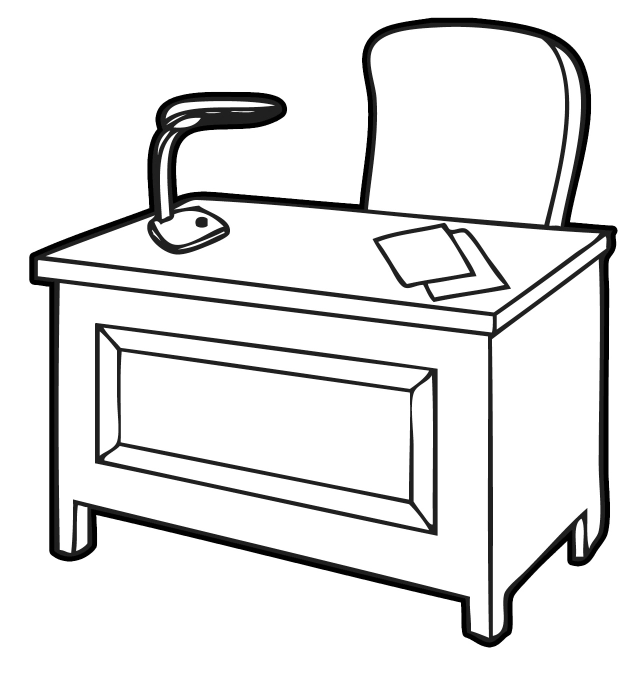 Desk Clipart Black And White | Clipart Panda - Free ...