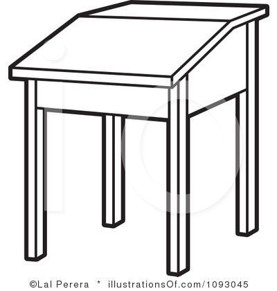 Desk Coloring Page