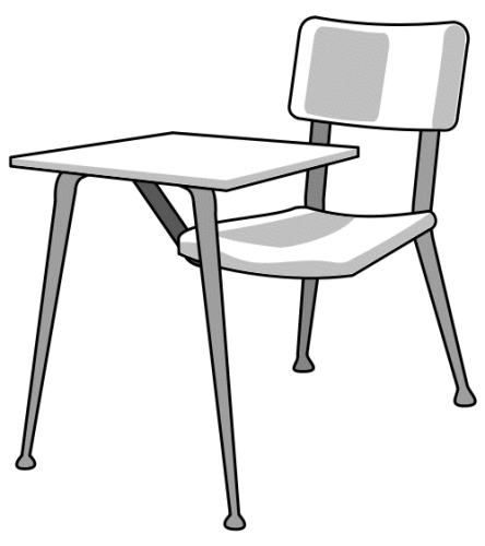 Classroom Furniture Dwg ~ Desk clipart black and white panda free