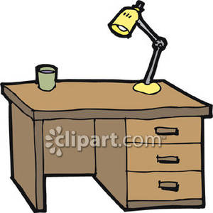 Desk Clipart Black And White Clipart Panda Free