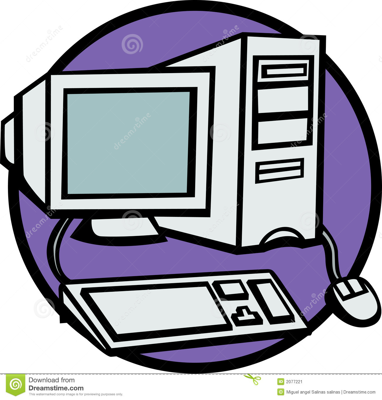 Desktop computer image desktop computer vector illustration 2077221