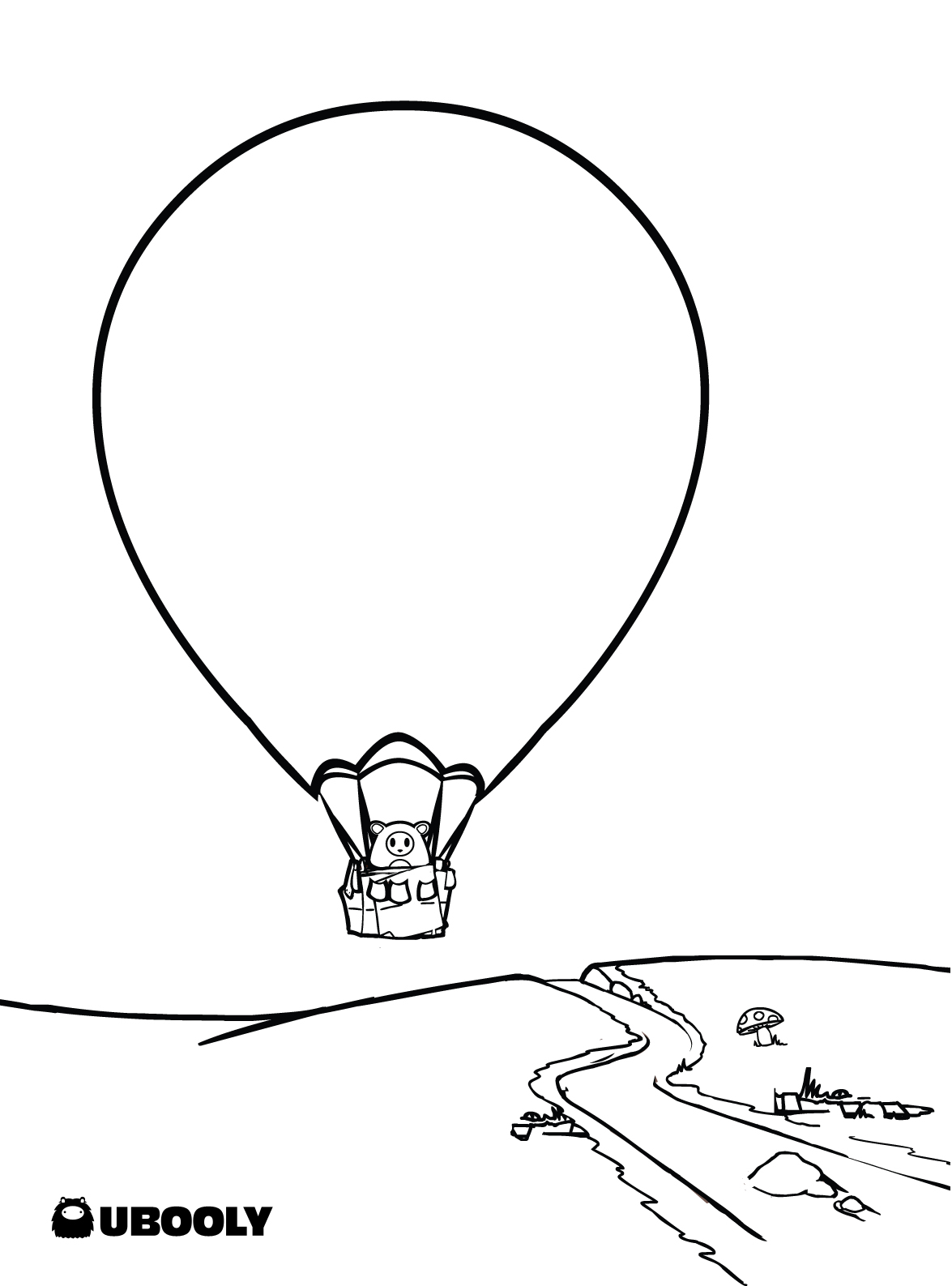 Free coloring pages hot air balloons - Detailed 20hot 20air 20balloon 20coloring 20page