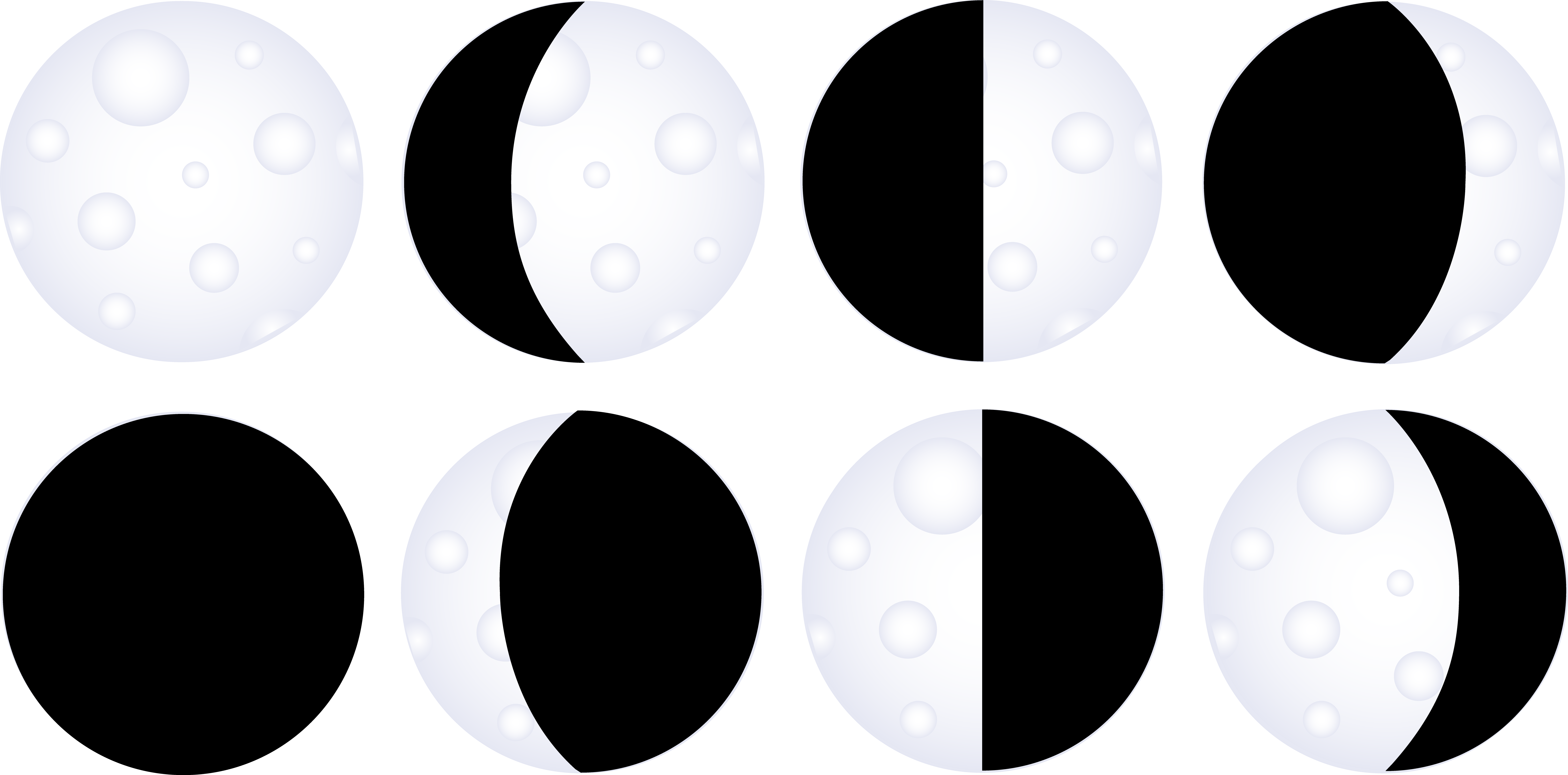 30 moon phases clip art.   Clipart Panda - Free Clipart Images