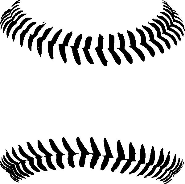 Baseball Clipart Black And White - 50.5KB
