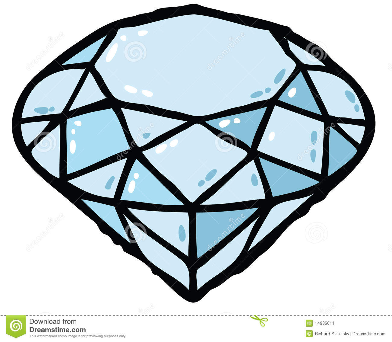 Diamond color. Vector clipart panda free