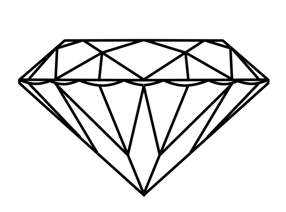 R Is For Ring Coloring Pages a diamond ring coloring pages