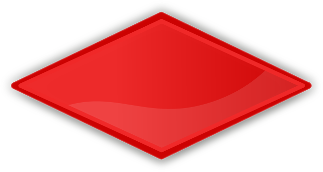 Diamond red PNG Clipart.