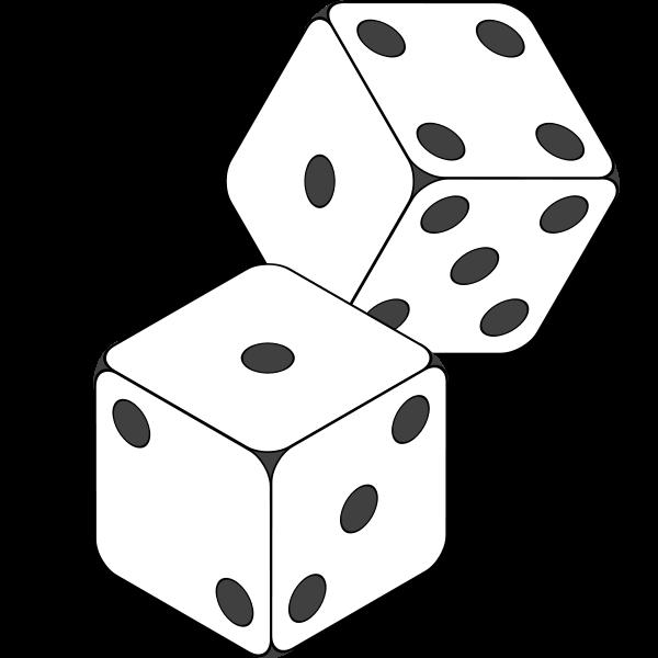 1 6 dice clipart panda black