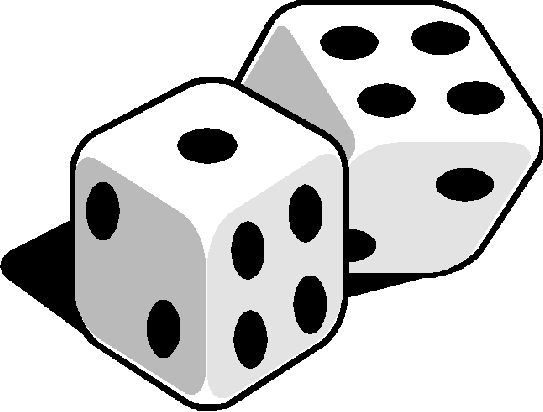 1 6 dice clip art black and white drawings