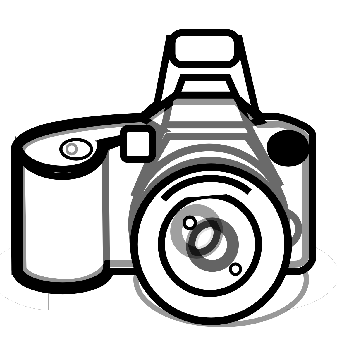 Camera Clipart Black And White Png | Clipart Panda - Free ...