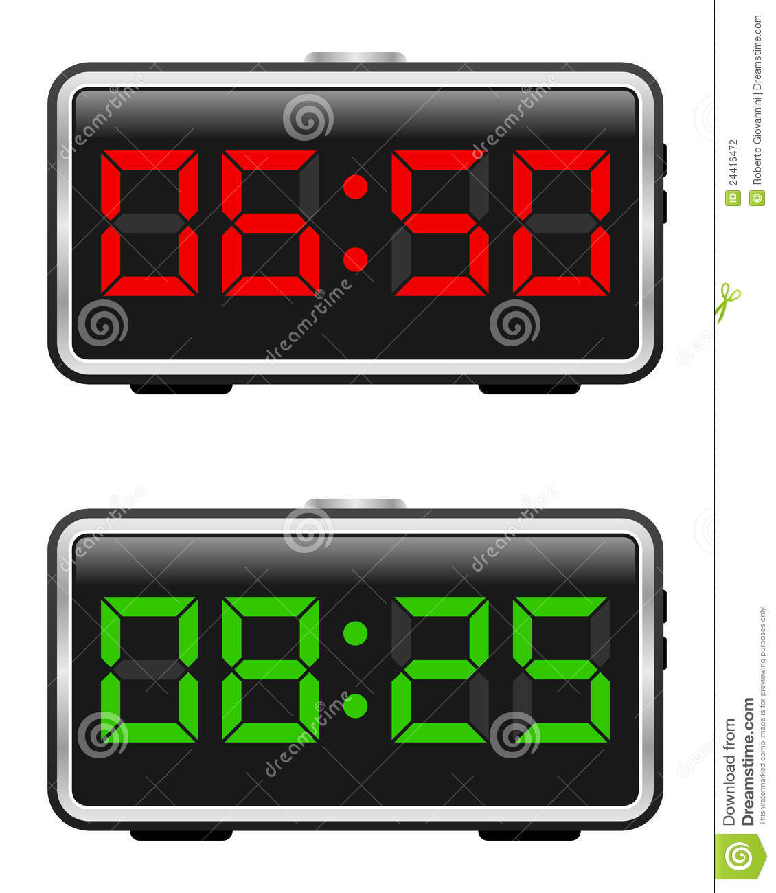 Digital alarm clock 6:30
