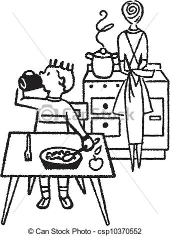 dining%20table%20clipart%20black%20and%20white