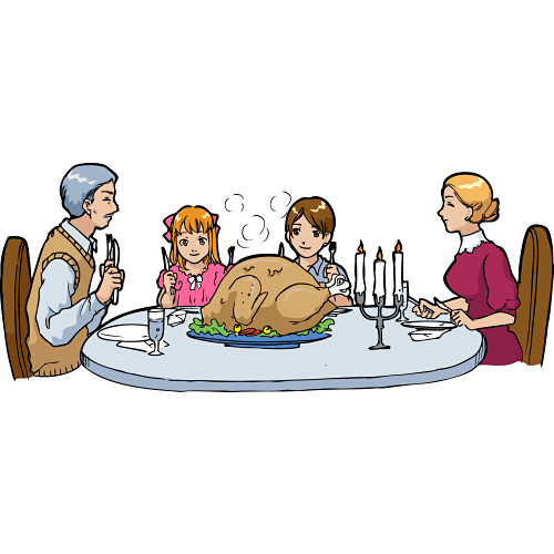 clipart christmas dinner pictures - photo #41