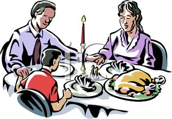 Family Dinner Table Clip Art
