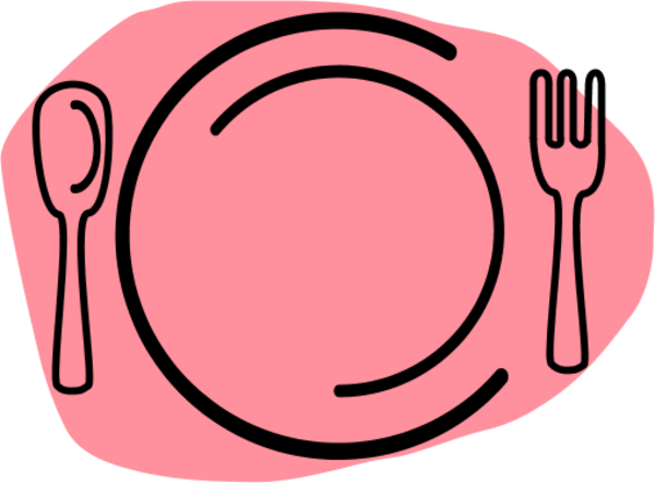 Dinner Plate with Spoon and | Clipart Panda - Free Clipart ...