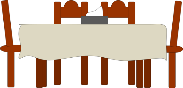 Kitchen Table And Chairs Clipart