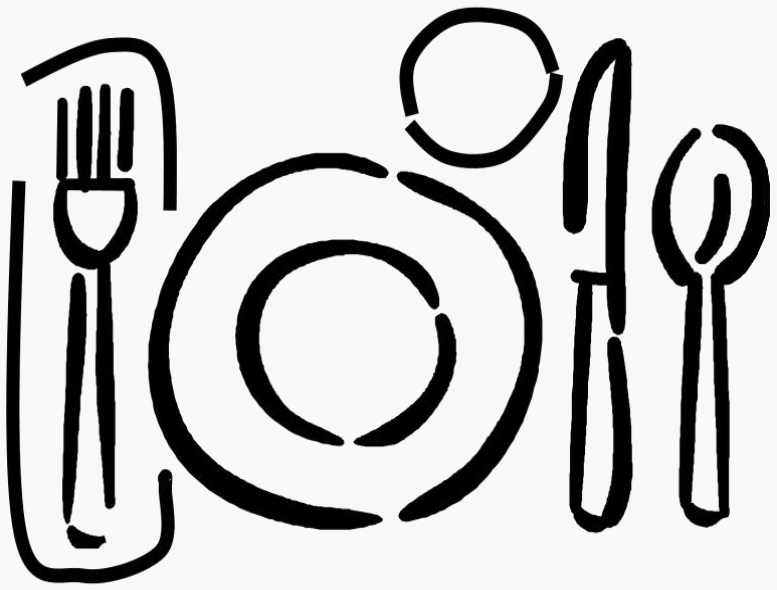 Dinner Table Setting Clipart