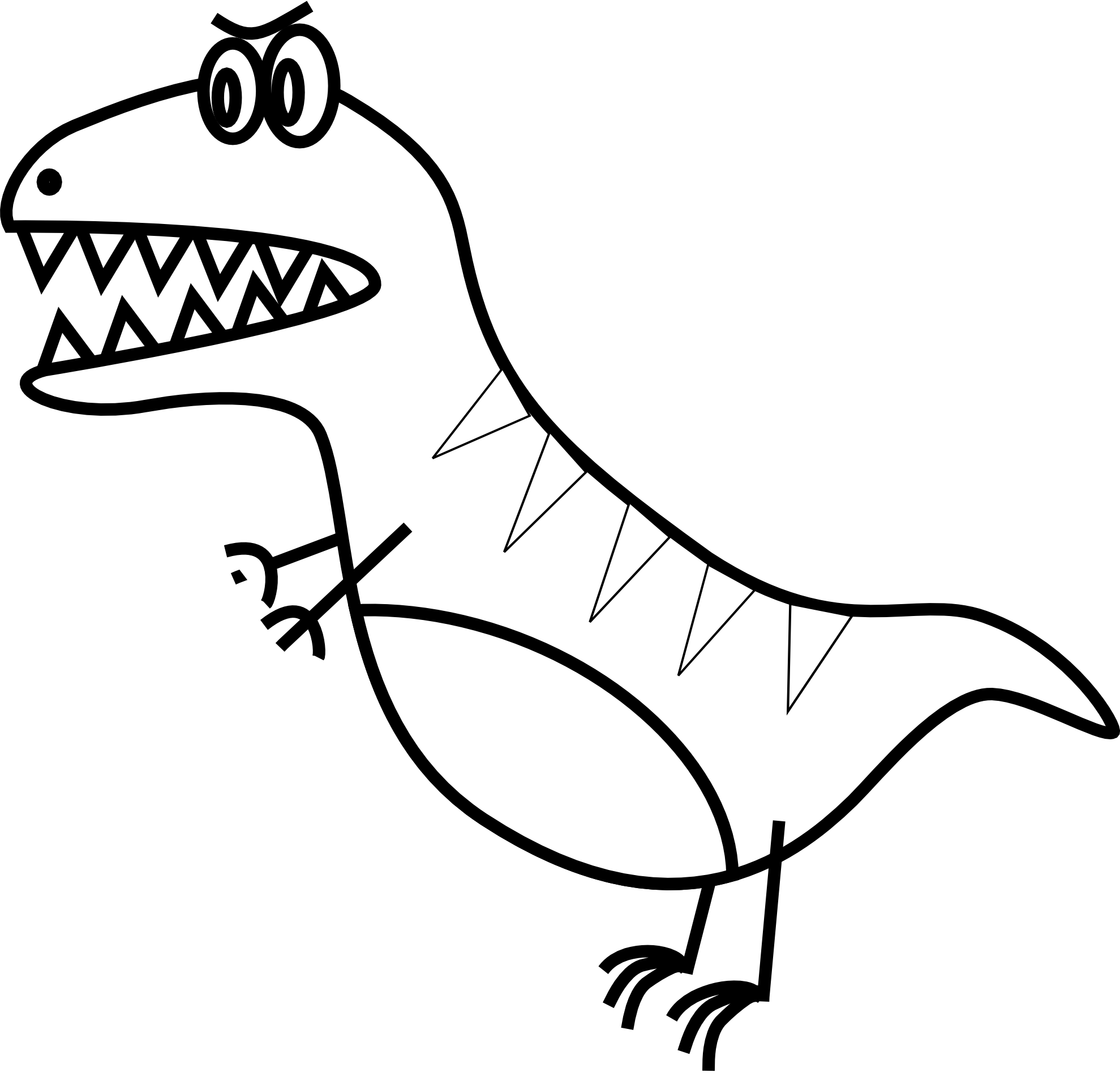 Dinosaur Clipart Black And White | Clipart Panda - Free ...