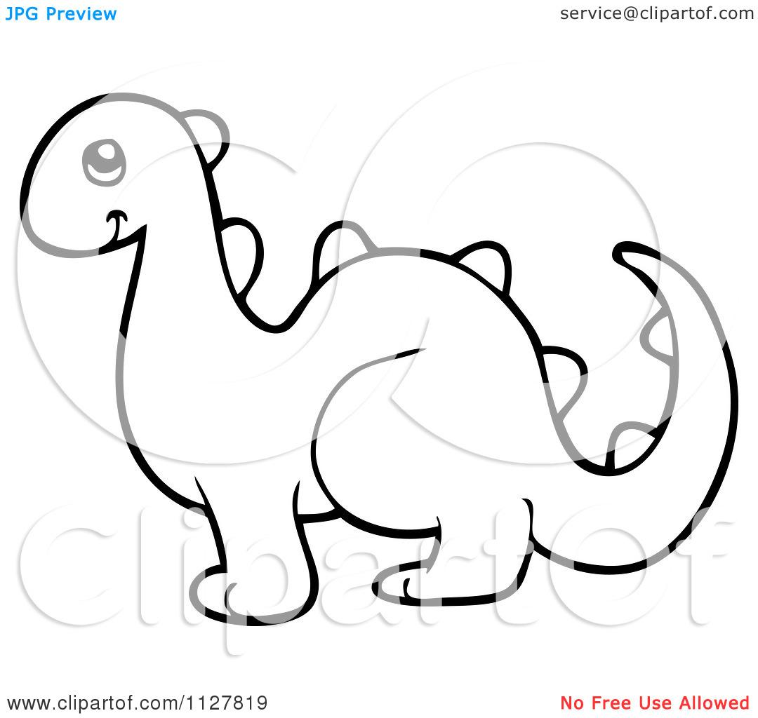 dinosaur clip art outline - photo #28