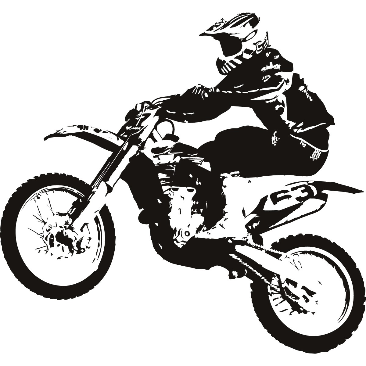 Dirt Bike Clipart Black And White | Clipart Panda - Free Clipart ...