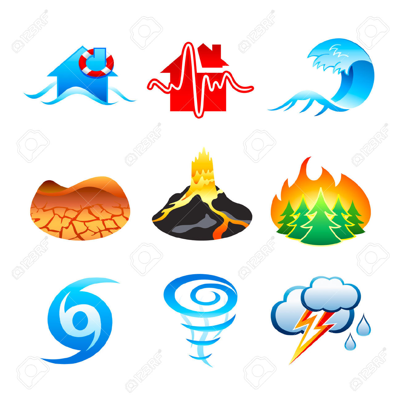 Natural Disasters Clipart
