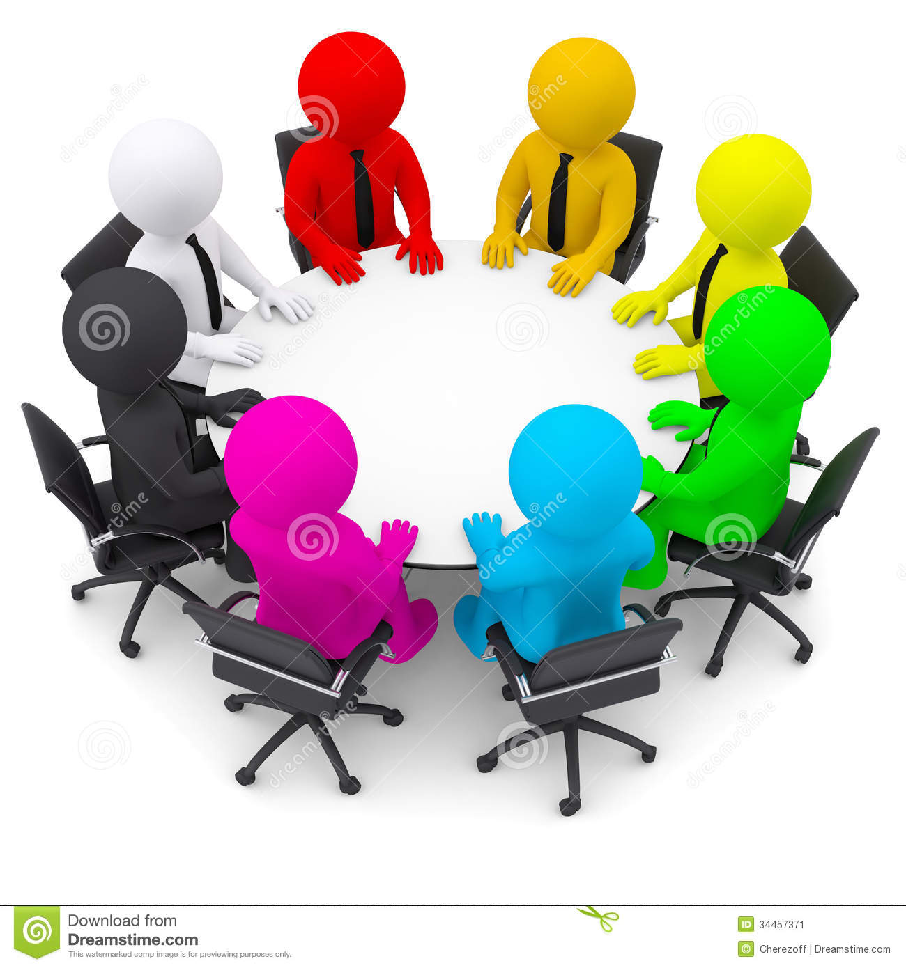 Round Table Discussion Clipart - Clipart info