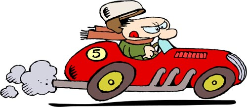 Zooming Car Speeding Car Clipart |...