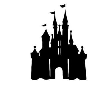 Disney Princess Silhouette Stencils disneyland 20castle