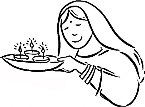 Coloring Pages Of Diwali Scene