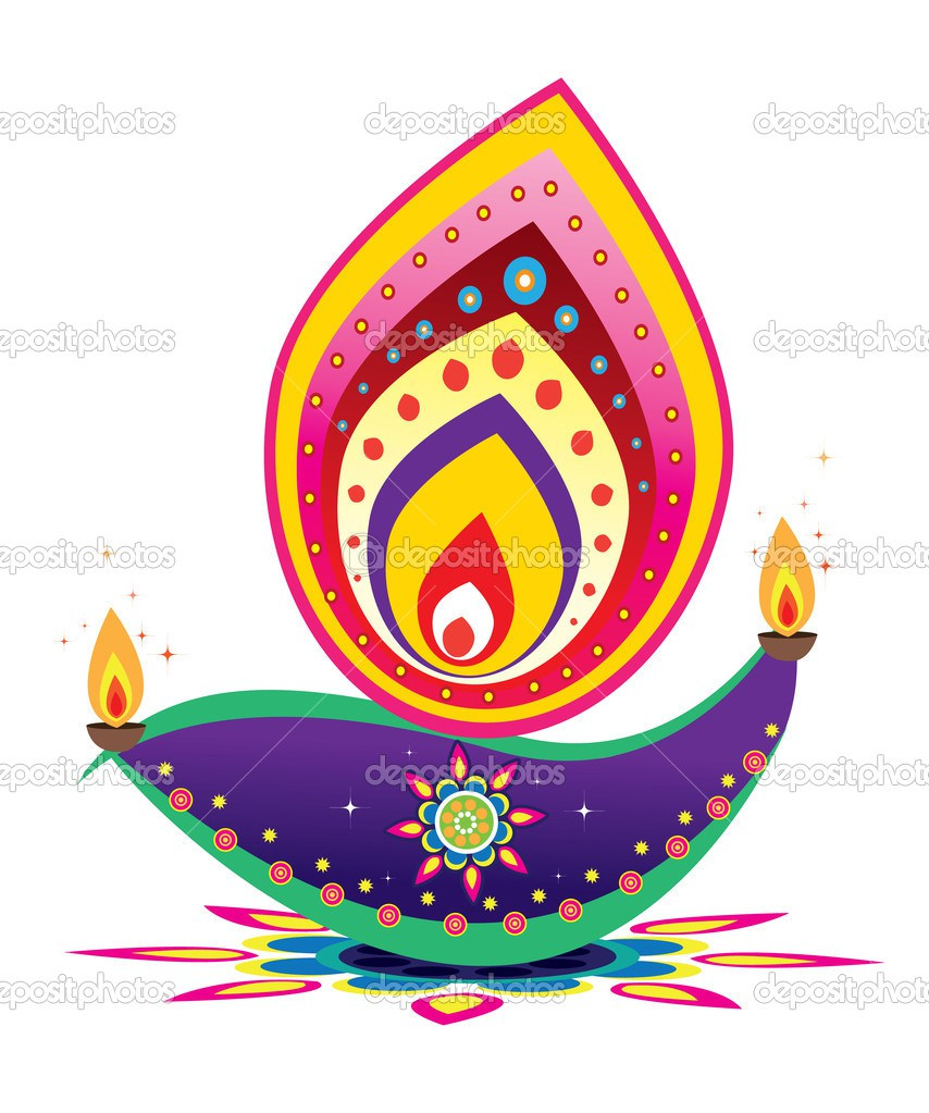 Diwali Oil Lamp Clipart 2