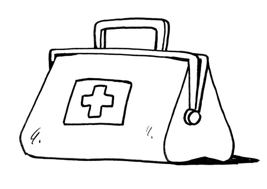 kids coloring pages doctor kit - photo#31